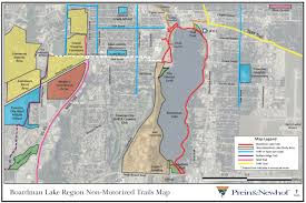 Michigan Trail Maps by Boardman Lake Trail Projecttart Trails Inc