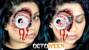 rigid collodion spirit halloween halloween sfx gory eye makeup tutorial nishi v octoween youtube