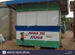 mama kitchen but written kichen graffiti painting at a