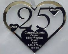 25th wedding anniversary gift silver wedding anniversary gifts ebay
