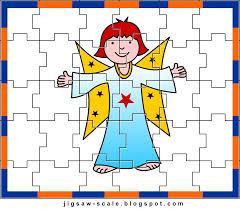 printable jigsaw puzzle for kids angel jigsaw