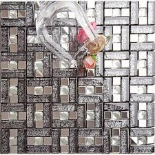 metal tiles for kitchen backsplash silver stainless steel glass blend metal tile sheets