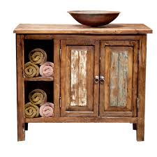 Wood Bathroom Vanities Cabinets by Bathroom Reclaimed Wood Vanity With White Sink And Faucet Plus