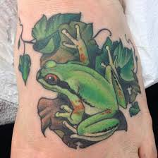 amazing frog tattoos and designs