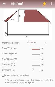 Hip Roof Design Calculator Calculating The Hip Roof Android Apps On Google Play
