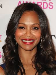 the american wave hair style afro american hairstyles zoe saldana s long black wavy hairstyle