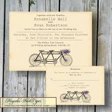willow tree wedding invitations tandem bicycle wedding invitation custom printable tandem bike