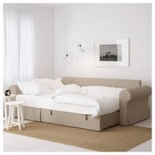 Ikea Chaise Lounge Sofa by Backabro Sofa Bed With Chaise Longue Hylte Beige Ikea