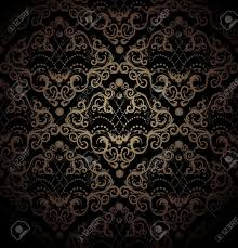 black and gold floral wallpaper stock photo floral pattern wallpaper