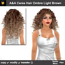 light brown curly hair second life marketplace a a ceres hair ombre light brown special