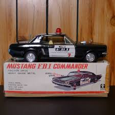 bandai tin friction 1965 ford mustang fbi commander 11