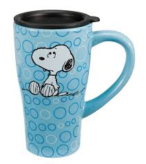 amazon com vandor ceramic travel mug peanuts coffee cups u0026 mugs