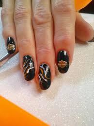 harley davidson designs for gel nails via jolene holdorf nails
