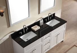 white sink black countertop ariel hamlet 73 double sink vanity set with absolute black granite