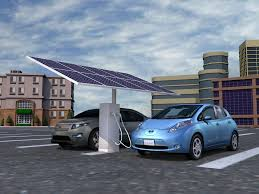 nissan leaf solar panel solar powered electric vehicle charger unveiled cleantechnica