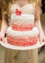 coral wedding cakes coral wedding cake