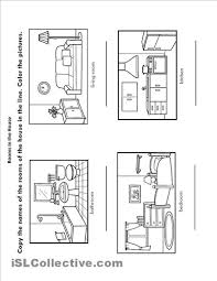 free rooms of the house coloring pages esl activities
