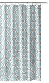Gray Shower Curtains Fabric Light Aqua Gray White Embossed Fabric Shower Curtain Moroccan