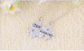 best friends puzzle necklace images 2015 new fashion originality jewelry apple style word best friends jpg