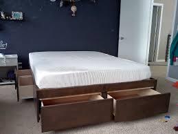 Queen Bed Frame Platform Black Queen Size Platform Bed With Drawers U2014 Vineyard King Bed