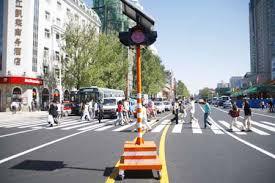 Solar Traffic Light - movable solar traffic light in ice city
