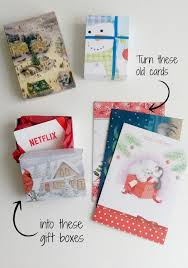 diy gift boxes up cycling christmas cards life in pleasantville