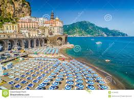 Campania Italy Map by Postcard View Of Minori Amalfi Coast Campania Italy Stock Photo