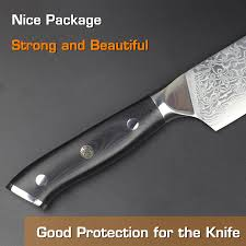 haoye 8 inch damascus chef knife japanese vg10 steel kitchen