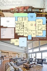 plan 85071ms sensational prairie style house plan prairie style