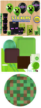 minecraft party supplies minecraft birthday party stuff solid party supplies green