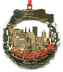 2000 portland ornament portland city skyline