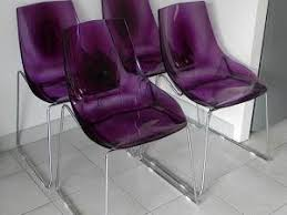 chaise violette chaises diamante fly par dans mon placard