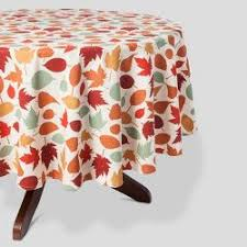 white printed leaf tablecloth threshold target