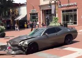 Dodge Challenger Police Car - driving into crowds of protesters was a right wing fantasy long