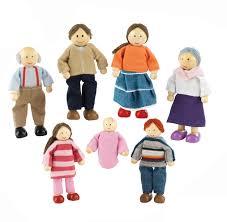 kidkraft caucasian wooden doll family 65202