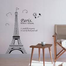 home decor wall art stickers diy wall wallpaper stickers romantic paris eiffel tower beautiful