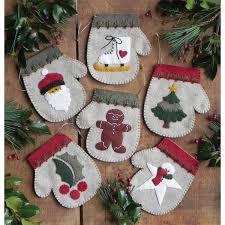 warm needlework felt ornament kit set of six