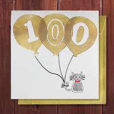 100th birthday card birthday card 100 years age special