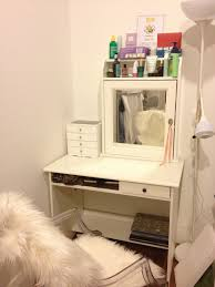 Small Corner Makeup Vanity Diy Wood Makeup Vanity Table Painted With White Color Plus Makeup