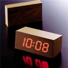 minimalist wood clock cool material