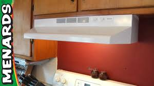 How To Install Lights Under Kitchen Cabinets Rangehood How To Install Menards Youtube