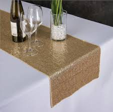 what is a table runner sunnyrain 10 pieces luxury gold sequin table runner wedding party