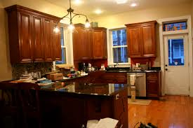 kitchen cute kitchen yellow walls dark cabinets espresso and