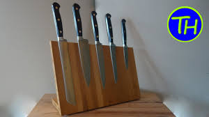 kitchen knives holder how to make a magnetic kitchen knife holder from bamboo wood diy