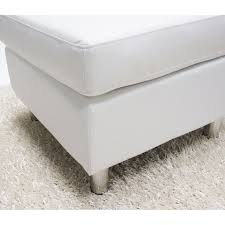 detroit white convertible sectional sofa and ottoman set free