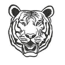 tiger outline embroidery designs machine embroidery designs