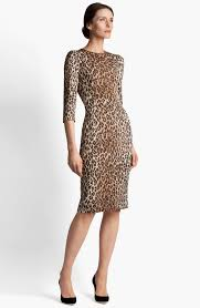 dolce leopard print dress nordstrom i would wear this dress to