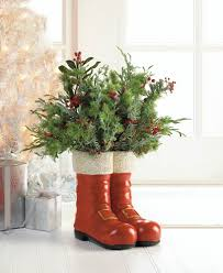 santa red boots decorative vase wholesale at koehler home decor