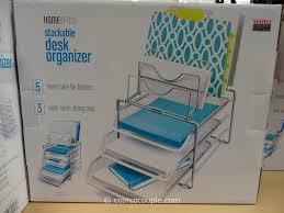 3 Drawer Desk Organizer by Stacking Trays For Desk Organization