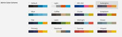 good colour schemes 5 free best admin colour scheme plugins for wordpress 3 8